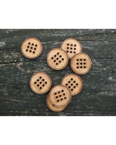Boutons à broder en bambou : 9 trous