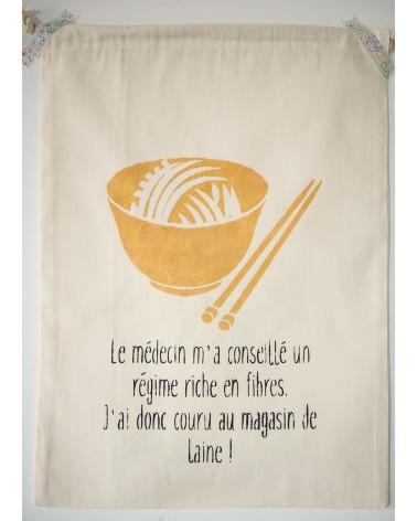 """Pochon humoristique """"Régime riche en fibres"""""""