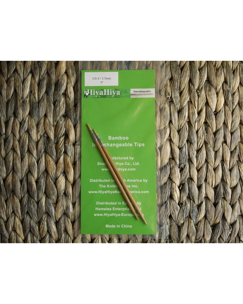 Pointes Bamboo pour aiguilles interchangeables HiyaHiya